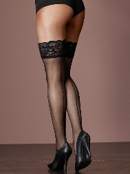 Back Seam Lacetop Thigh High
