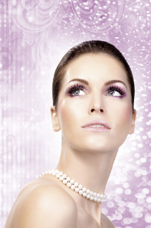 Black-Purple Rhinestone Eyelashes