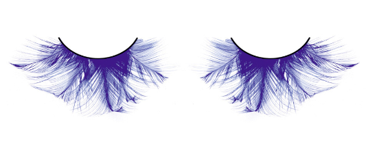 BC619 - Baci Eyelashes, Blue Feather