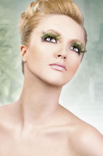 Light green Feather Eyelashes
