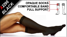 Legwear for Men - Full-Support Opaque Socks