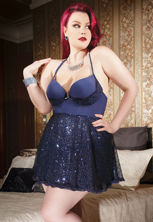 Sexy Plus Size Babydoll, Model Ruby Roxx