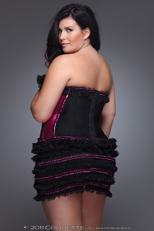 Gorgeous Plus Size Lingerie in Black, Fuschia