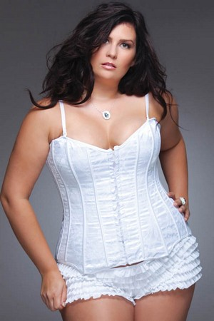 Gorgeous White Corset for Full Figure Bridal Wear
