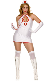 Key Hole Front Nurse Costume