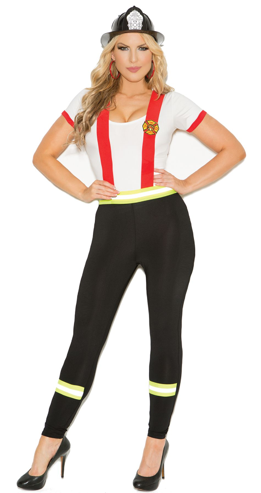 Sexy Plus Size Fireman Costume for Curves in 1X to 4X