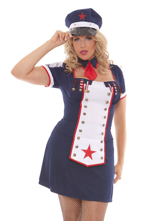 Sexy Sailor Costume in 1X/2X and 3X/4X