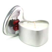 Edible Massage Oil Heart Candle