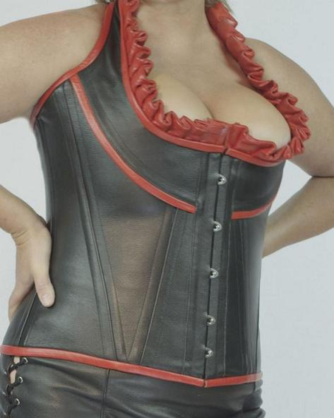 Plus Size Steel Boned Corset,  Genuine Leather Corset in Canada