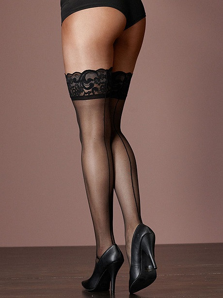 Sexy BACKSEAM Lace Top Stockings in 1X/2X, 3X/4X, 5X/6X for BBW...Stunning!
