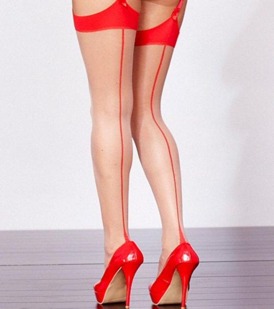Plus Size Stockings - Cuban Heel Design with Backseam up to Size 6X