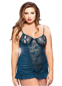 Plus Size Open Cup Chemise