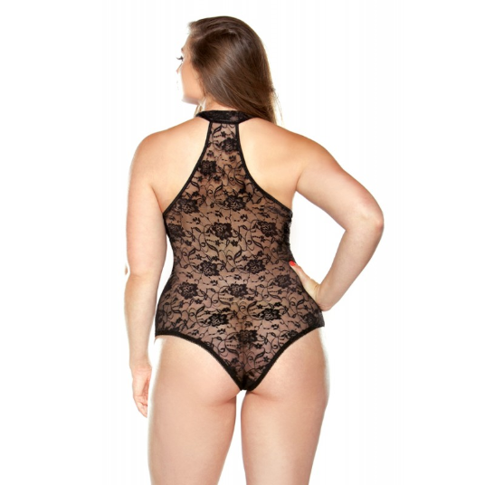 Plus Size Lingerie Canada, Sexy Teddy, Rear View