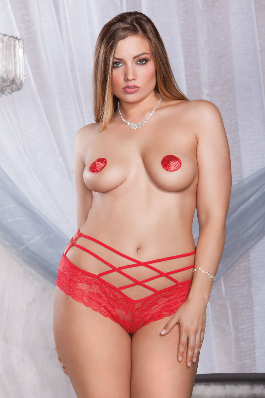 Red Panty in Plus Size, Front view
