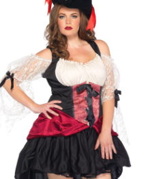 Sexy Adult Wicked Wench Plus Size Pirate Costume
