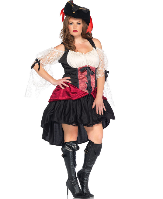 Plus Size Adult Costume, Sexy Wench in 1X/2X, 3X/4X