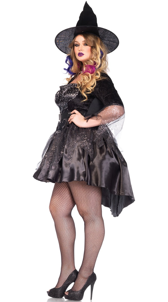 Plus Size Black Magic Mistress Adult Costume - 1X to 4X