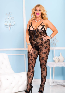 Crotchless Plus Size Bodystocking