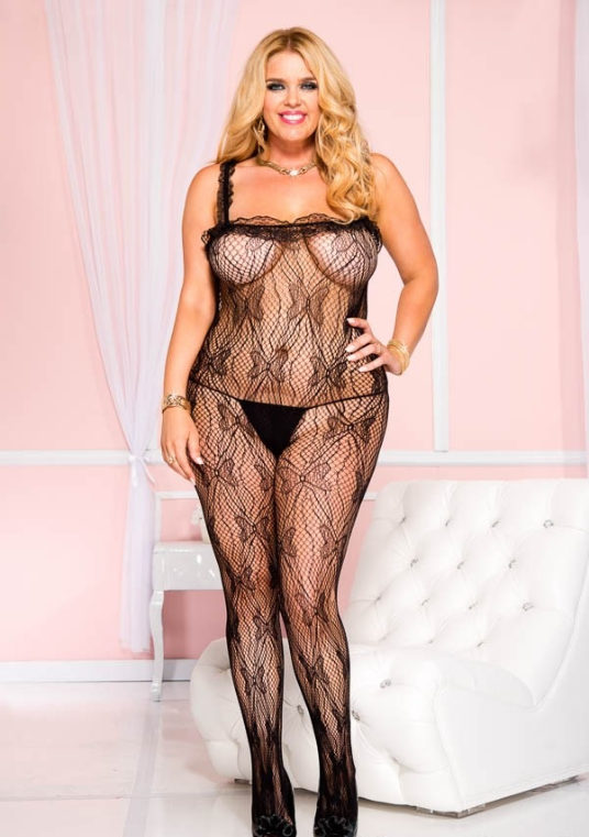 Plus Size Lace Bodystockings for Curves