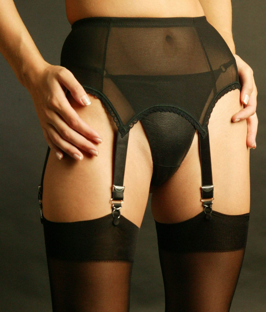 6 Strap Plus Size Suspender Belt, Luxurious Garter Belt
