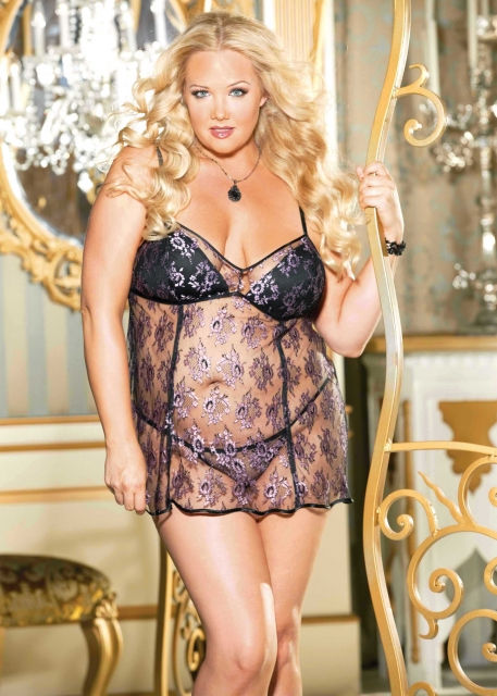 Plus Size Lingerie, Shirley Chemise