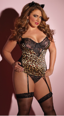 Leopard Love Bustier Set