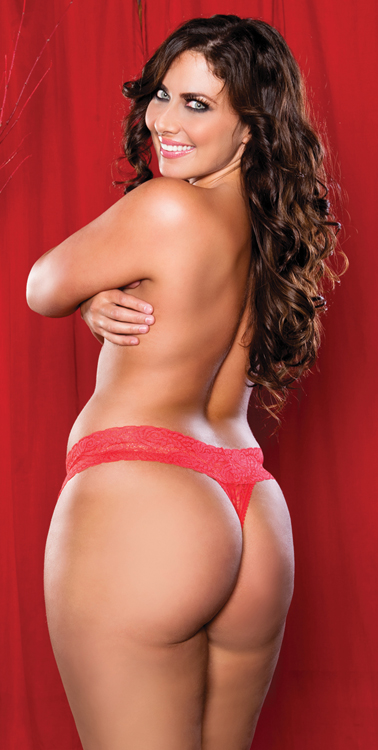 Plus Size Panties, Full Figure Jenna Thong from Seven Till Midnight