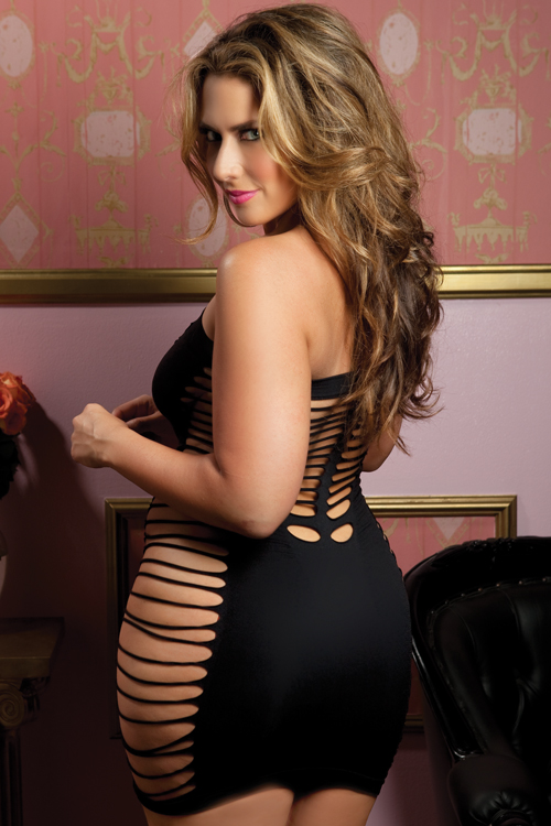 Plus Size Lingerie, Seductress Tube Dress by Seven Till Midnight, 9511X