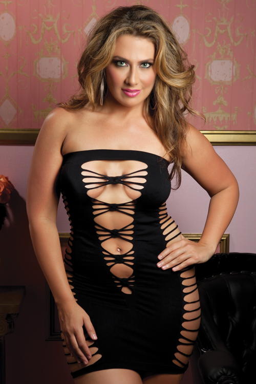 Shop Plus Size Fashion and Buy Sexy Tube Dress in Plus Sizes
