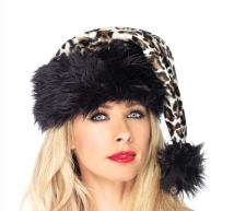 Cheetah Santa Hat