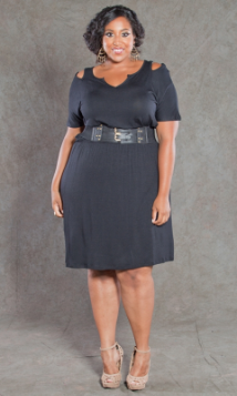 Plus Size Dress - SWAK Whitney Cut Out Dress