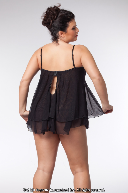 Plus Size Babydoll in Black