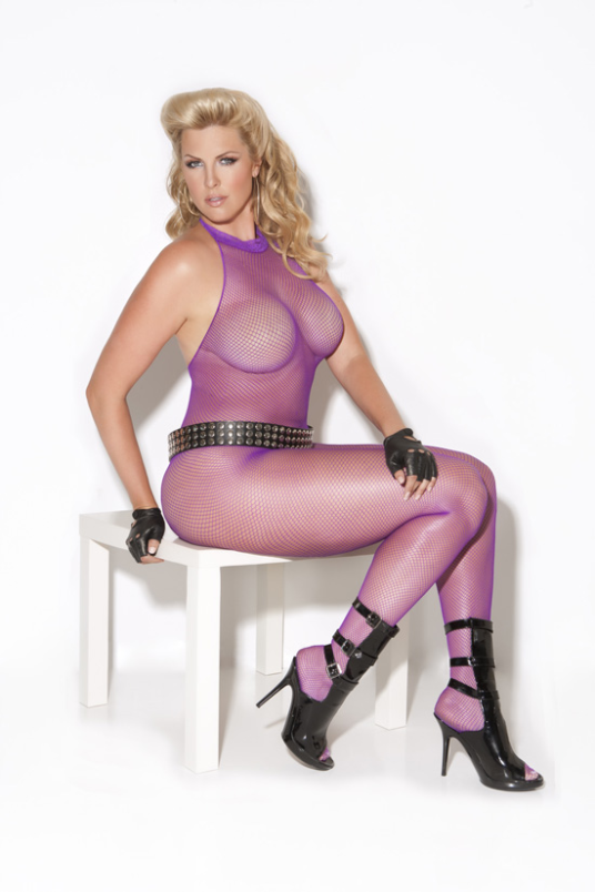 Plus Size Fishnet Bodystockings