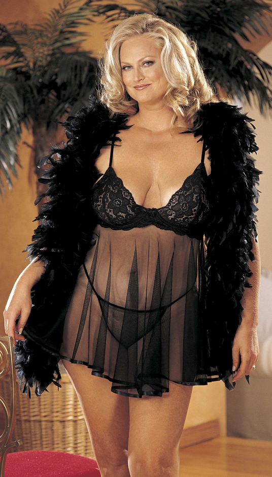 Plus Size Lingerie by Shirley of Hollywood in Black