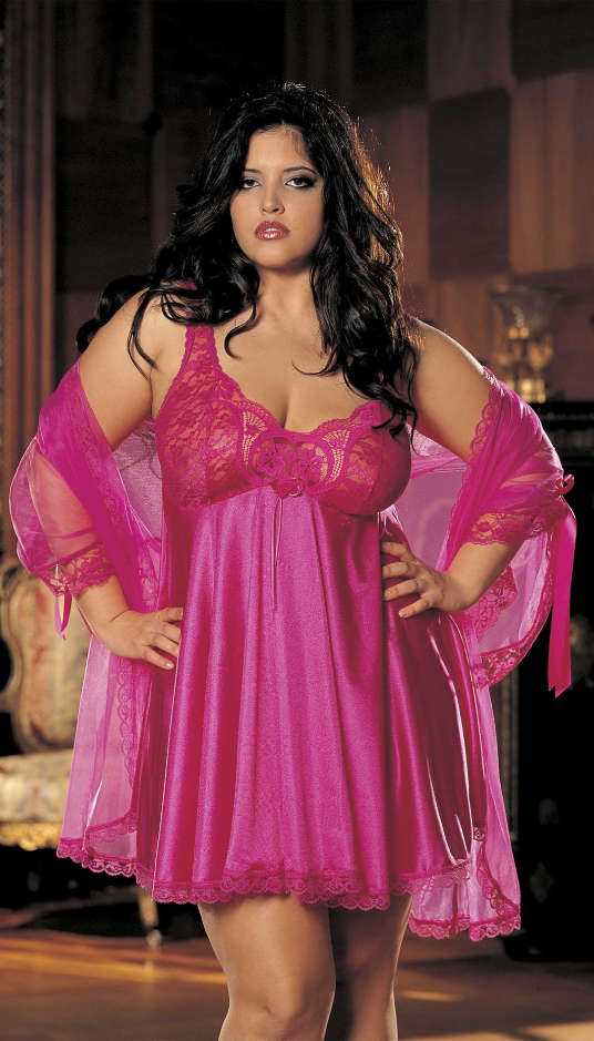 Plus Size Peignoir Set by Shirley of Hollywood