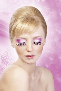 Pink-Black Glitter Eyelashes