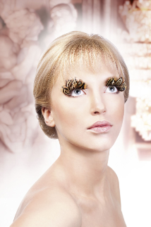 Brown-Beige Feather Eyelashes