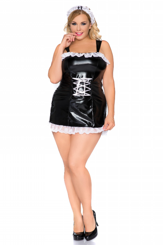 Andalea Angel babydoll in Plus Sizes, White Plus Size Lingerie