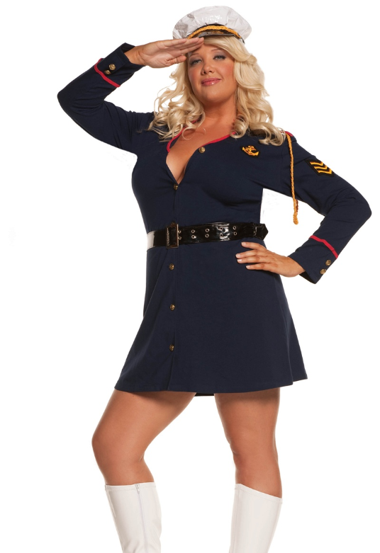 Adult Plus Size Police Officer Costume, 1X/2X, 3X/4X