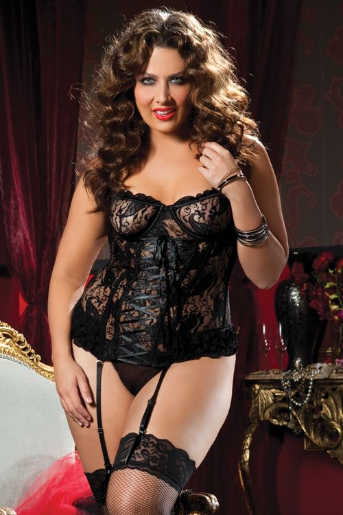 Sexy Plus Size Lingerie from Seven Til Midnight, 9335X in Black