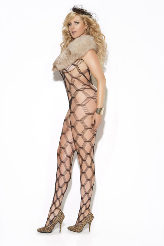 Sexy Plus Size Bodystocking - Side View