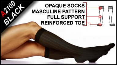 Legwear for Men - Full-Support-Opaque- Socks