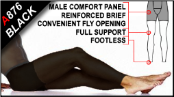 Footless Tights for Men with Fly