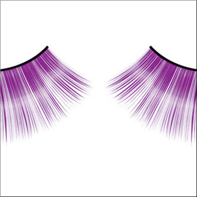 Purple Glitter Eyelashes