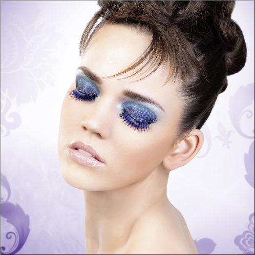 Blue-Purple Deluxe Eyelashes