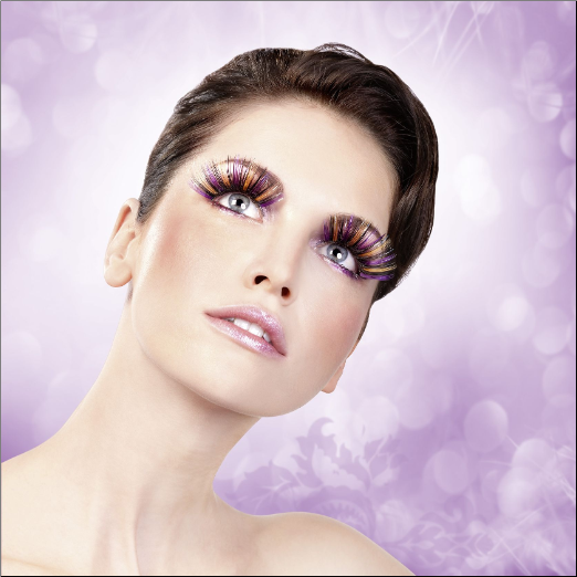 Purple-Black-Yellow Glitter Eyelashes