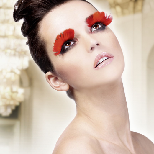Red Feather Eyelashes
