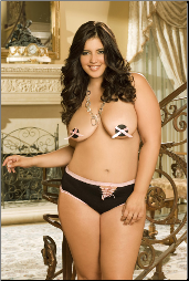 Plus Size Pasties & Panty
