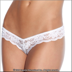 Plus Size Lace Pearly Panty - Lowrise