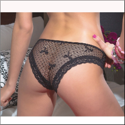 Bow Mesh Panty in Plus Sizes